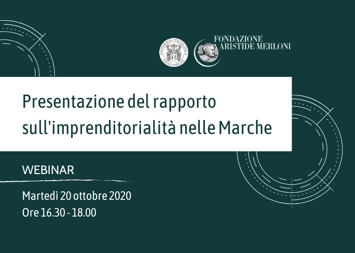 WEBINAR Rapporto imprenditorialita Marche 2020