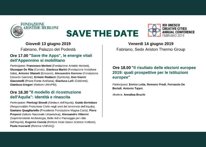 comitato scientifico della Fondazione Aristide Merloni fabriano 2019