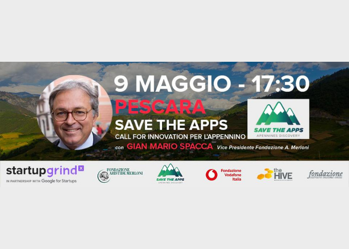 partecipa all'evento save the apps start up grind pescara