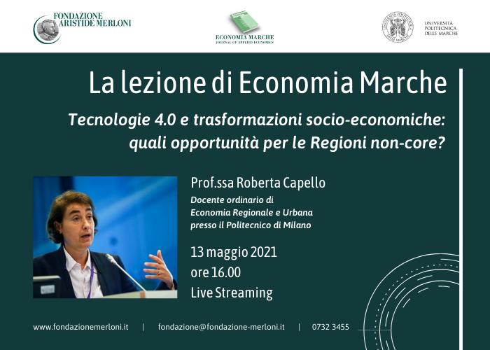 Lezione Economia Marche Roberta Capello